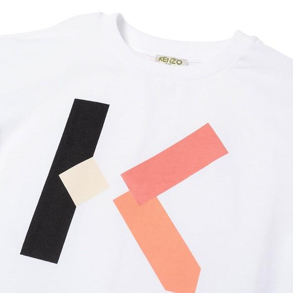 Kenzo Kids Girls White K15093 Large Logo T Shirt