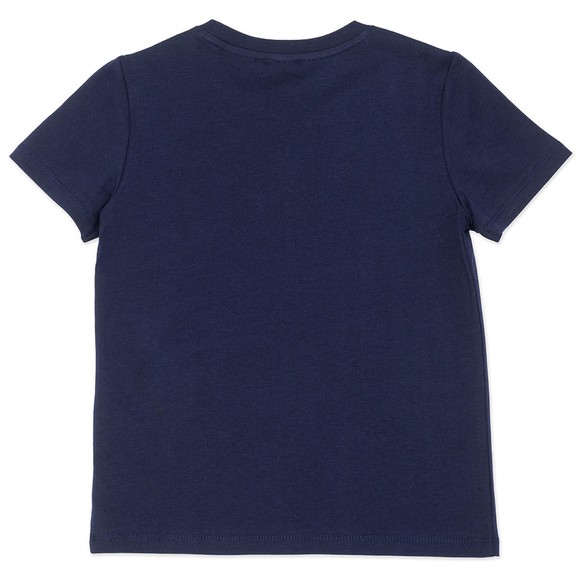 Kenzo Kids Girls Blue K15082 Logo T Shirt