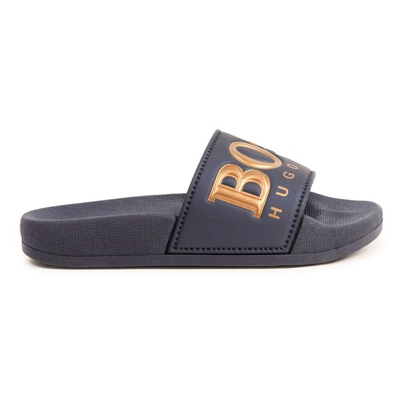BOSS Boys Blue Gold Logo Slides