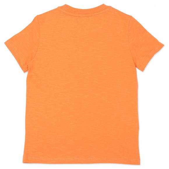 Kenzo Kids Boys Orange Elephant Logo T Shirt