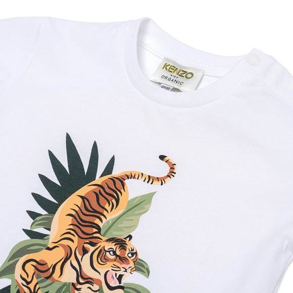 Kenzo Kids Boys White K25106 Tiger T Shirt