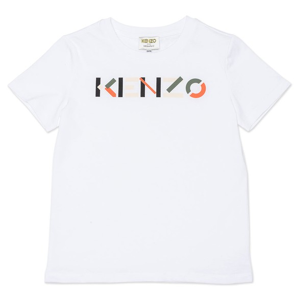 Kenzo Kids Boys White K25112 Logo T Shirt