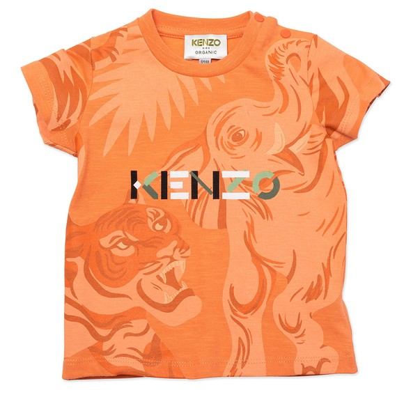 Kenzo Kids Boys Orange K25118 Tonal T Shirt
