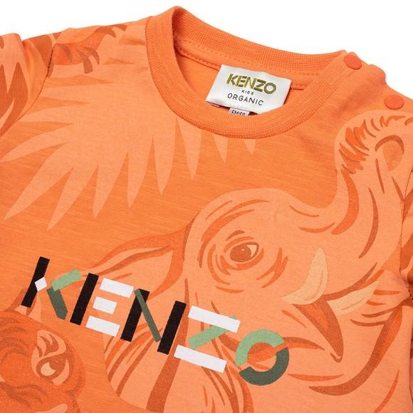 Kenzo Kids Boys Orange K25118 Tonal T Shirt main image