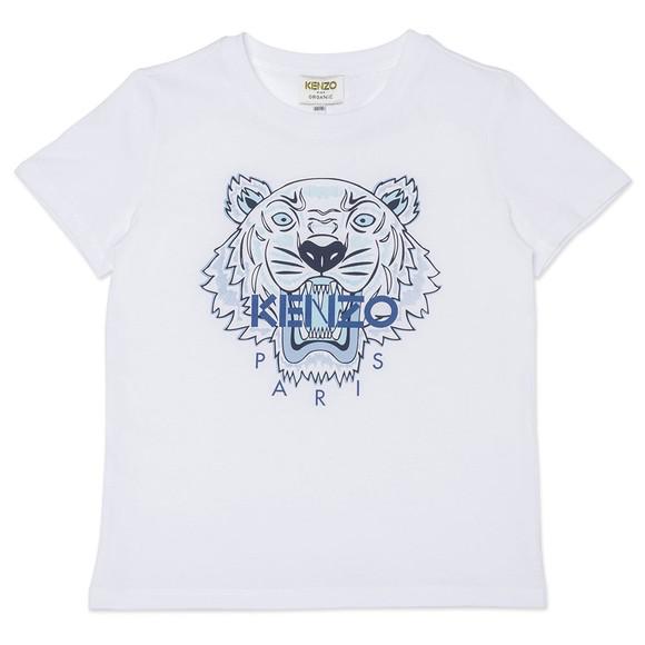 Kenzo Kids Boys White K25115 Printed Tiger T Shirt