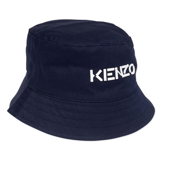 Kenzo Kids Unisex Blue K51001 Logo Bucket Hat