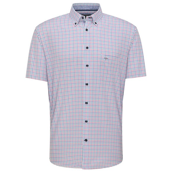 Fynch Hatton Mens Blue 6061 Short Sleeve Shirt