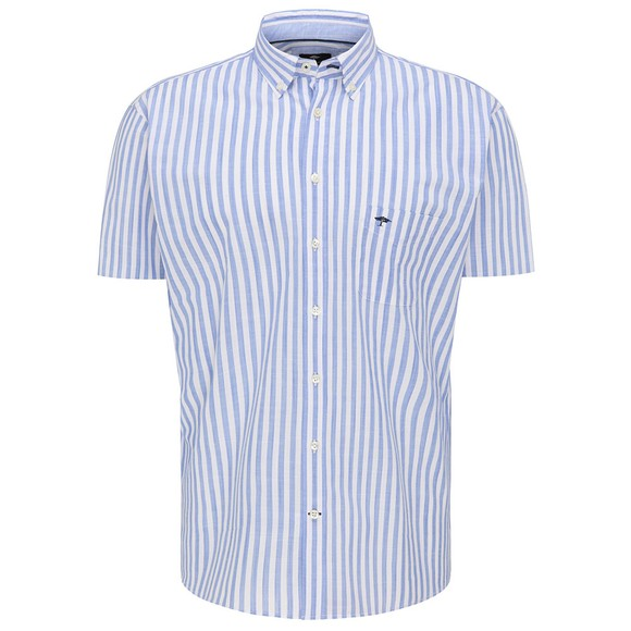Fynch Hatton Mens Blue Lightweight Summer Story Shirt