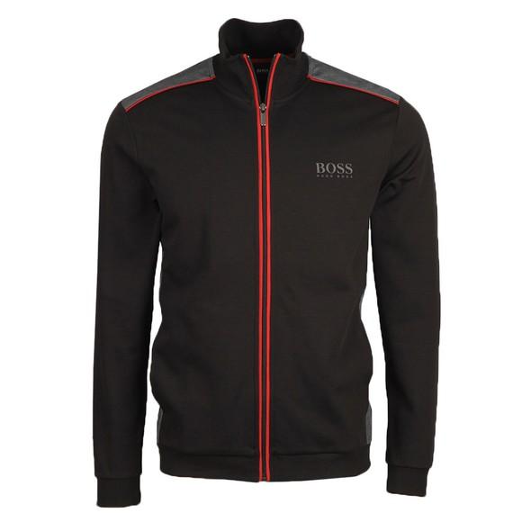 BOSS Bodywear Mens Black Panel Detail Full Zip Sweatshirt