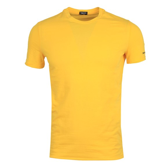 Dsquared2 Mens Yellow Small Sleeve Logo Stretch T Shirt
