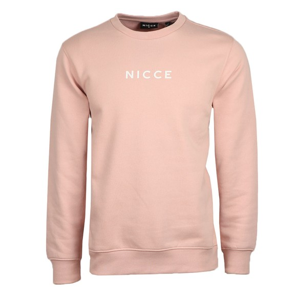 Nicce Mens Pink Centre Logo Sweatshirt