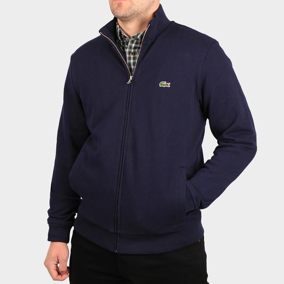Lacoste Mens Blue Full Zip Sweatshirt