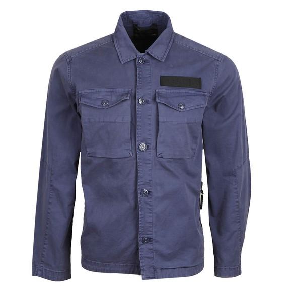 Replay Mens Blue Comfort Twill Overshirt