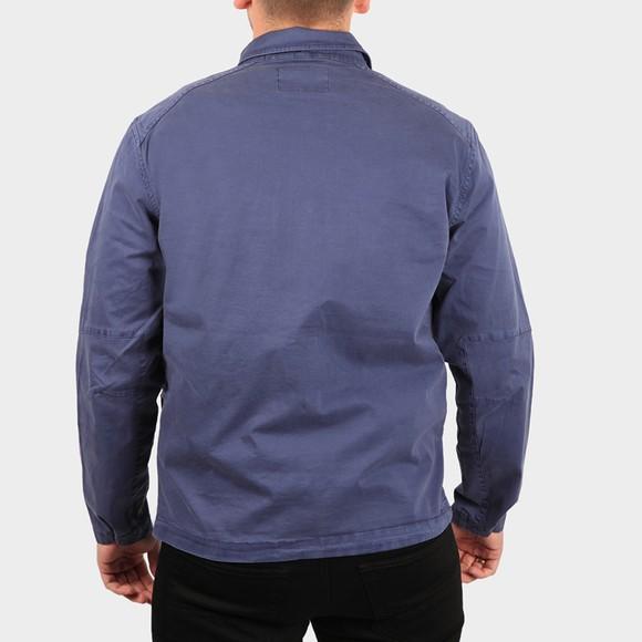 Replay Mens Blue Comfort Twill Overshirt main image