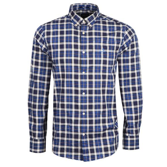 Gant Mens Blue Micro Tartan Shirt