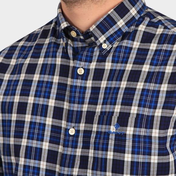 Gant Mens Blue Micro Tartan Shirt main image