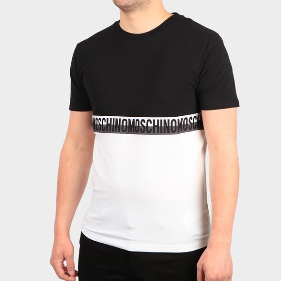 Moschino Mens Black Tape 2 Tone T-Shirt