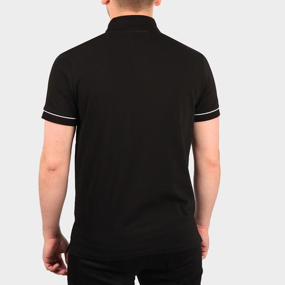 Karl Lagerfeld Mens Black Logo Placket Polo Shirt main image