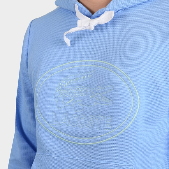 Lacoste Mens Blue SH0532 Circle Logo Overhead Hoody main image