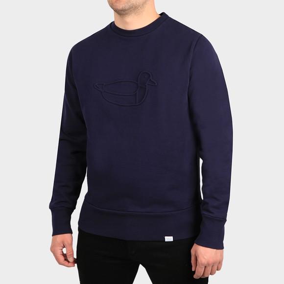 Edmmond Studios Mens Blue Duck Hunt Sweatshirt