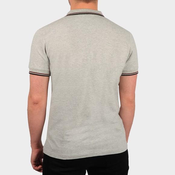 Pretty Green Mens Grey Tipped Pique Polo Shirt main image