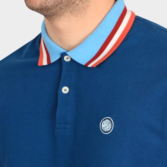 Pretty Green Mens Blue Long Sleeve Polo Shirt main image