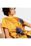 Ted Baker Womens Yellow Aidenn Modernity Oversize Short Sleeve Shirt