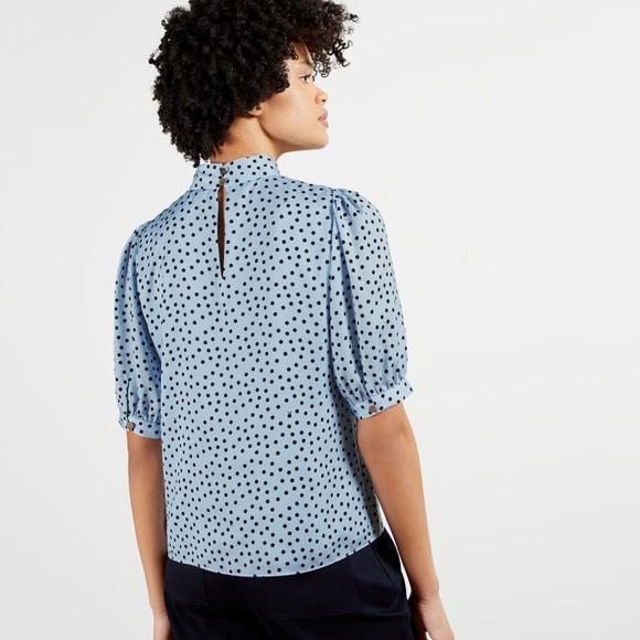 Ted Baker Womens Blue Priyal Short Sleeve Top main image