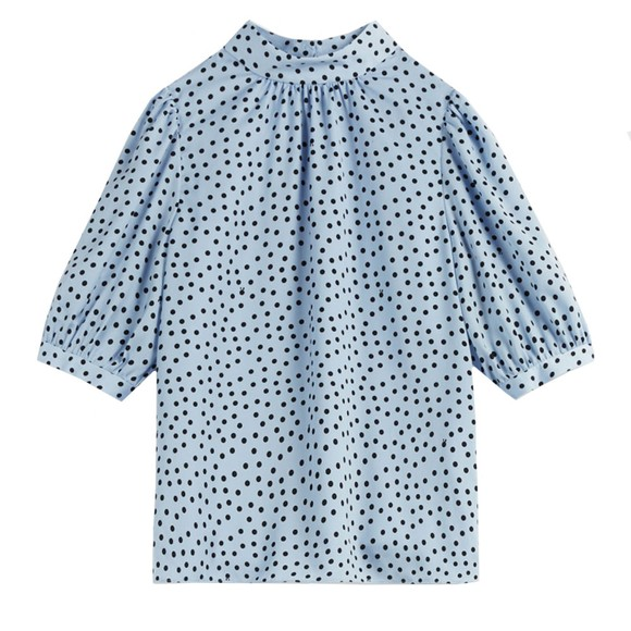 Ted Baker Womens Blue Priyal Short Sleeve Top