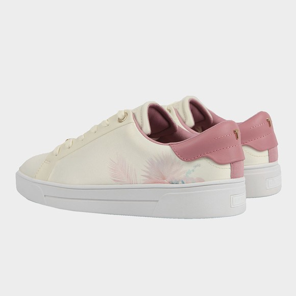 Ted Baker Womens White Delylas Serendipity Satin Trainer main image