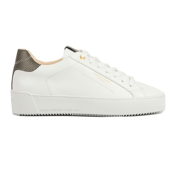 Android Homme Mens White Zuma Leather Carbon Trainer