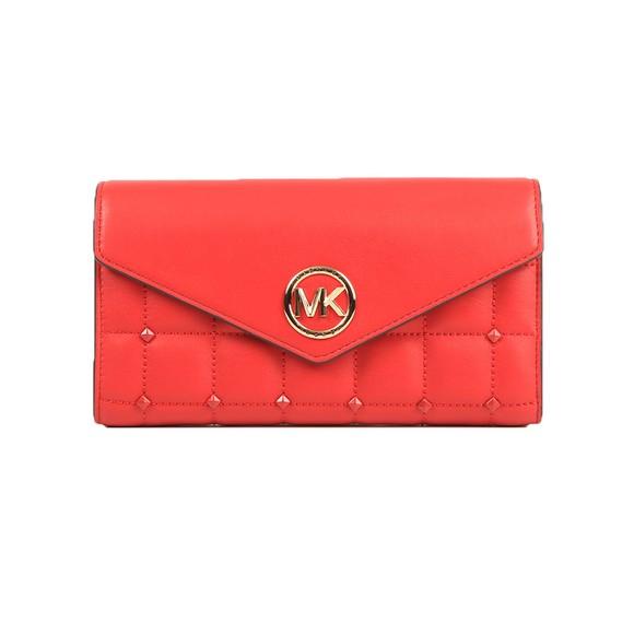 Michael Kors Womens Red Carmen Mid Tri Fold Shoulder Bag