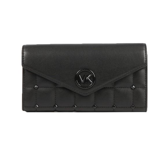 Michael Kors Womens Black Carmen Mid Tri Fold Shoulder Bag