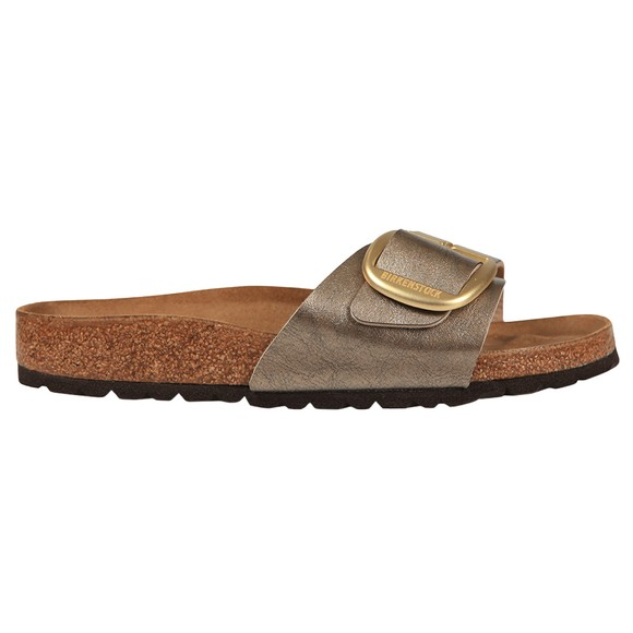 Birkenstock Womens Silver Madrid Big Buckle Sandal