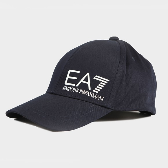 EA7 Emporio Armani Mens Blue Core ID Logo Cap