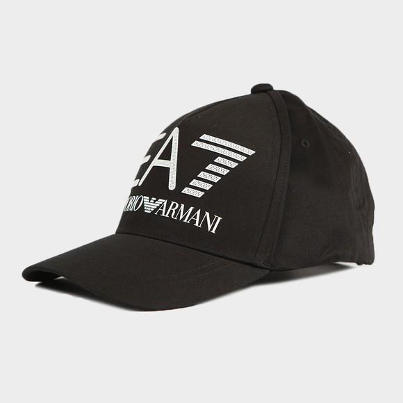 EA7 Emporio Armani Mens Black Large Logo Visibility Cap