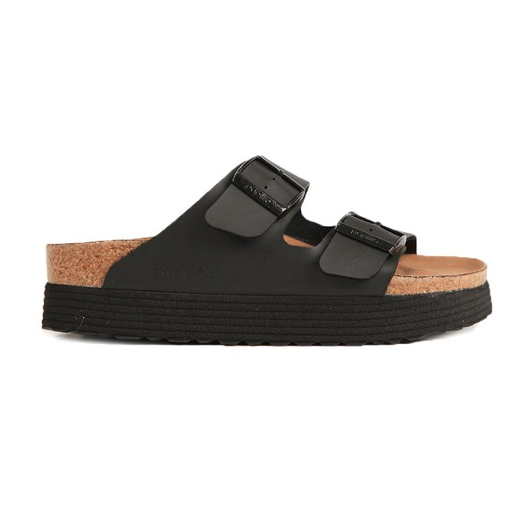 Birkenstock Womens Black Arizona Grooved Vegan Platform