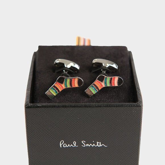 Paul Smith Mens Multicoloured Striped Sock Cuff Links