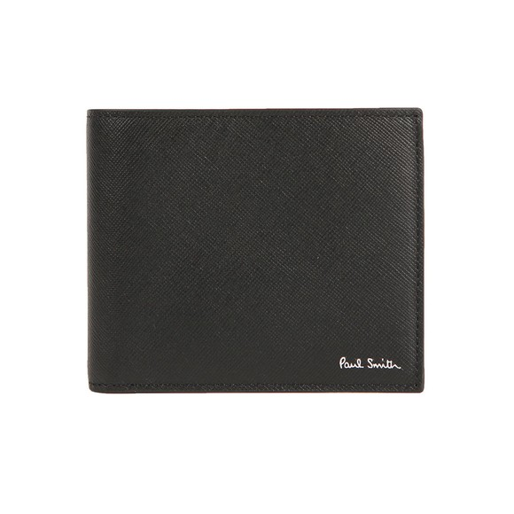Paul Smith Mens Black 'Mini' Interior Billfold Wallet
