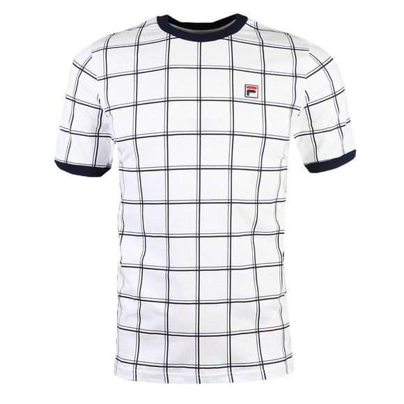 Fila Mens White Slate Window Pane Print T Shirt