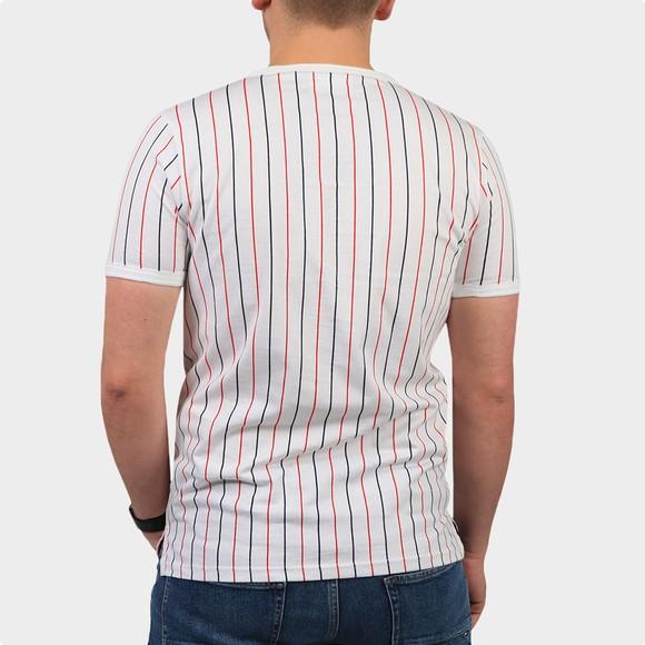 Fila Mens White Mica Multi Colour Stripe T Shirt main image