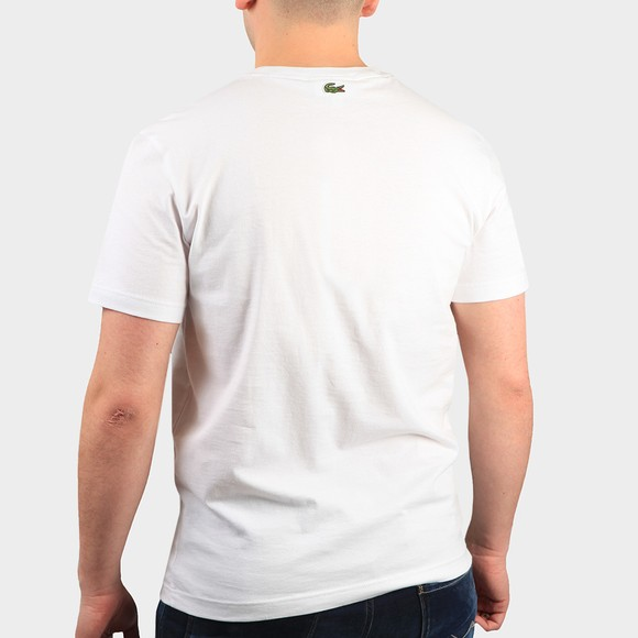 Lacoste Mens White TH0051 Crocodile Embroidery T-Shirt main image