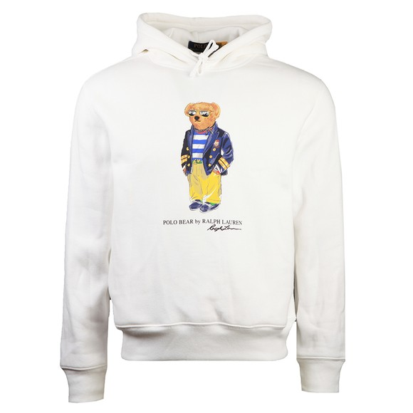 Polo Bear By Ralph Lauren Mens White Sunglass Bear Hoody
