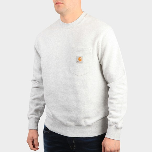 Carhartt WIP Mens Grey Pocket Sweatshirt