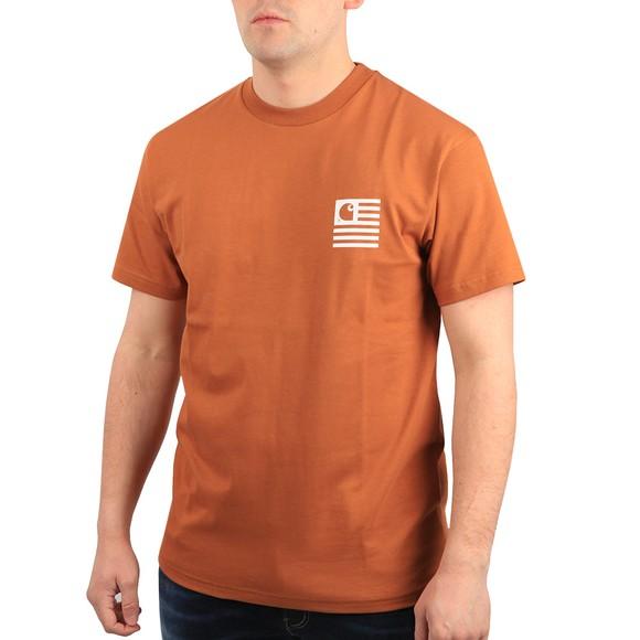 Carhartt WIP Mens Orange Wavy State T Shirt