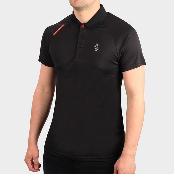 Luke Sport Mens Black Thomas Performance Polo Shirt