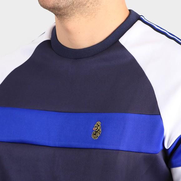 Luke Sport Mens Blue Adam 3 Tape Detail Crew Sweatshirt main image