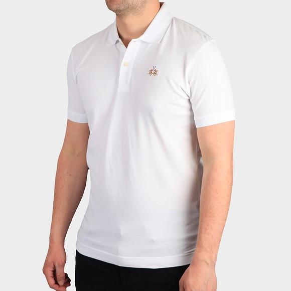 La Martina Mens White Classic Slim Fit Polo Shirt