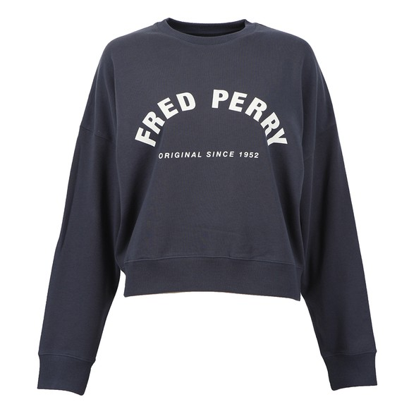 Fred Perry Womens Blue Arch Branded Sweatshirt