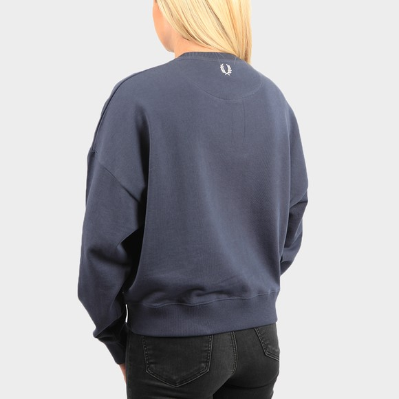 Fred Perry Womens Blue Arch Branded Sweatshirt main image